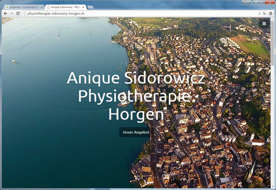 Homepage van Physiotherapie Sidorowicz Horgen