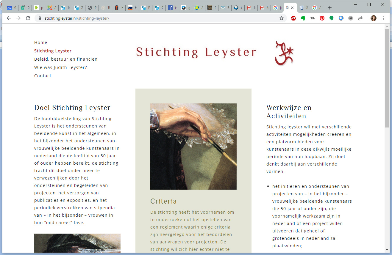 Stichting Leyster, de 'about' pagina